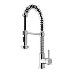 Edison Pull Down Kitchen Faucet, Chrome, Without Extras