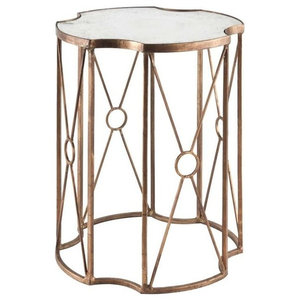 17b4b568fcd1 Marlene Side Table. Marlene Side Table 495. Maureen Glass Top Gold Leaf  Accent Table