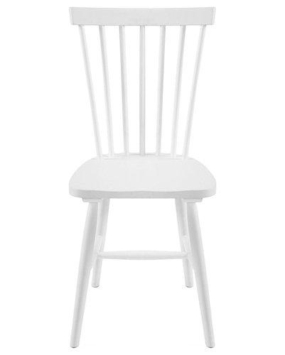 Wood H17 Pinnstol, Vit - Spisebordsstole