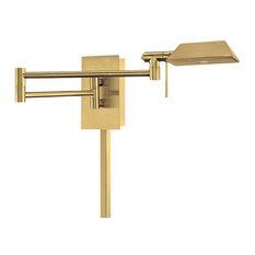 dweled by wac lighting cue led swing arm brushed brass swing arm wall brass swing arm wall lamp