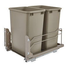 Double 35 Quart Pull-out Waste Container Soft-Close