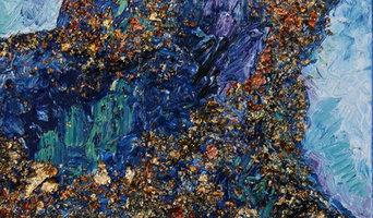 Rock - Paper - Scissors - Series of 3 / Original Abstract Paintings