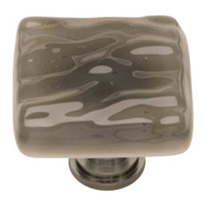 Glacier Silver Grey Knob, Polished Chrome Base