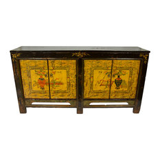 Consigned Gold And Brown Mongolian Sideboard