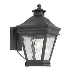 Country / Cottage 1 Light Sconce in Charcoal Finish