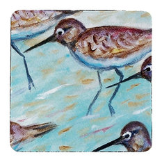 Betsy Drake Sandpipers Coasters, Set of 4