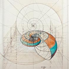 """- Nautilus Fine Art Prints Large - Cotton Canvas 39""""x32"""" - Fine Art Prints"""