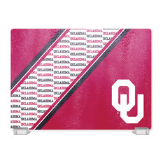 University Of Oklahoma Tempered Glass Cutting Board