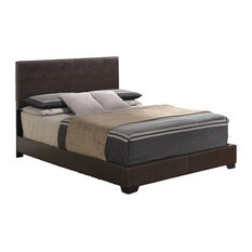 Queen Bed, Brown PU