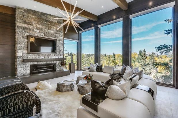 Modern Wohnbereich by Rockwood Custom Homes