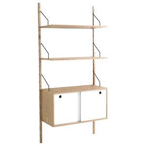 Kiju Wall Shelf Unit With Cabinet
