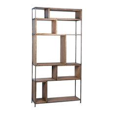 Gilmore Wood And Iron Bookshelf