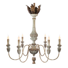 French antique chandeliers houzz tutu french country weathered white antique gold chandelier chandeliers aloadofball Images