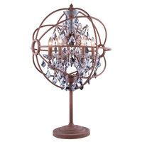 Elegant Lighting Geneva 6-Light Table Lamp In Rustic Intent