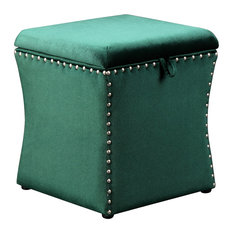 Surprising 50 Most Popular Green Ottomans And Footstools For 2019 Houzz Forskolin Free Trial Chair Design Images Forskolin Free Trialorg