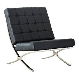 Admirable Atrium Bonded Leather Barcelona Chair Contemporary Pabps2019 Chair Design Images Pabps2019Com