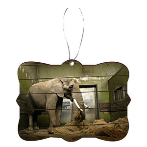 Pewter Ornament Elephant Family