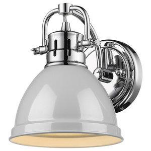 Duncan CH 1 Light Bathroom Vanity Light in Chrome