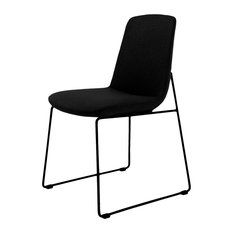 Moes Home Collection EJ-1007 Set Of (2) Ruth 18-inchW Steel Dining - Black
