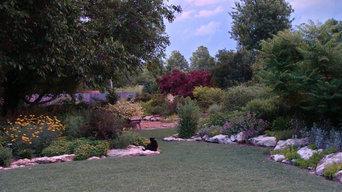 Low Maintenance Buffalo grass lawn with prairie style landscape