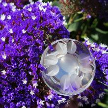 Swarovski and Lilac, Quality Crystal for a Master Bath or Powder Room #
