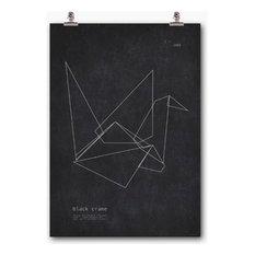 - Wallstuff アートポスター 折鶴 ブラック Black Crane - ポスター