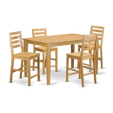 5-Piece Counter Height Dining Room Set Pub Table And 4 Kitchen Dining Chairs