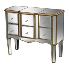 Antwerp Chest, Clear Mirror And Antique Gold