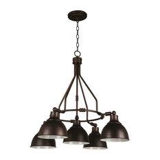 Jeremiah Lighting 35925-ABZ Timarron Chandelier, Aged Bronze