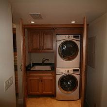 Washer & Dryer Storage Closets / Cabinets
