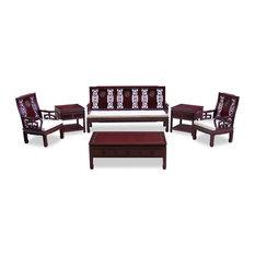 Rosewood Longevity Design Sofa, 6-Piece Set