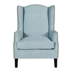 Serene Furnishings - Stirling Occasional Chair, Duck Egg - Armchairs & Accent Chairs