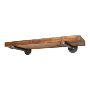 Teton Industrial Rustic Floating Shelf - Modern Farmhouse Shelf - Open Shelving,