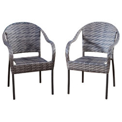 Elegant Transitional Outdoor Lounge Chairs by GDFStudio