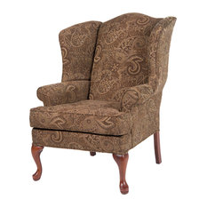 Paisley Wingback Chair, Coco, 28x35x42