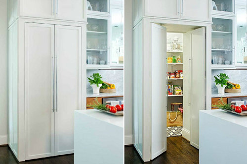 The Hidden Walk In Pantry Would Be Something Similar To This