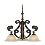 Seville 3-Light Breakfast Nook, Spanish Bronze