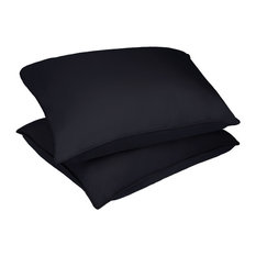 Stayclean Polyester Microfiber Stain and Water Resistant Bed Pillow 2 Pack, Blac