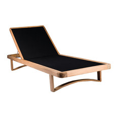 OASIQ Limited 300 Teak Chaise With Black Mesh