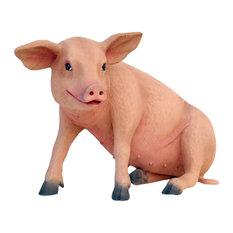 Pig Sitting Life Size Resin Baby Pig Prop Display