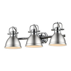 Duncan 3 Light Bath Vanity in Chrome with a Pewter Shade