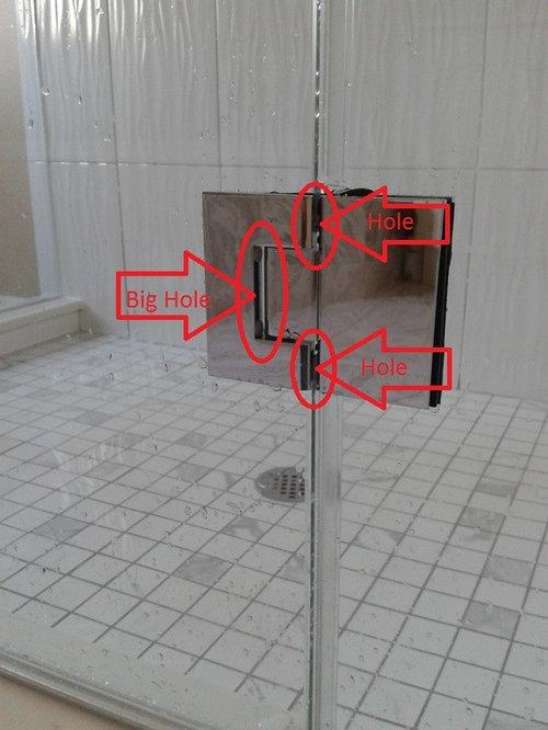Glass Shower Door Hinges With Wide Gaps Please Help