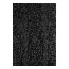 Schumacher Crocodile Textured Wallpaper in Jet