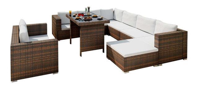 Lounge Polyrattan. Cool Polyrattan Lounge Rattan Set Vidaxl Black ...