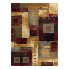 Donald Contemporary Abstract Multi-Color Rectangle Area Rug, 8' x 10'