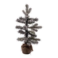 Snowy Pine Table Top Tree in Jute Bag, 35 cm