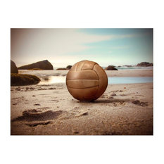 Ball on the Beach Wallpaper Mural, 350x270 cm