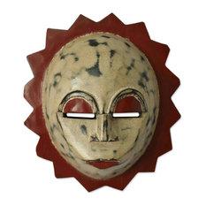 Moon Goddess Nigerian Wood Mask