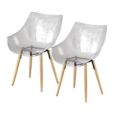 People Transparent Chairs, Set of 2, Neutral