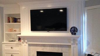 TV Installation above bedroom dresser